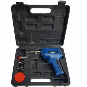 100W ELECTRIC ELECTRICAL SOLDER SOLDERING IRON GUN KIT 240V