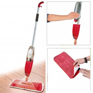 700Ml Red Microfibre Spray Mop / Floor Cleaner