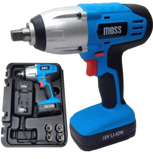 "18v Cordless Impact Wrench Gun 1/2"" Drive High Torque 300Nm"