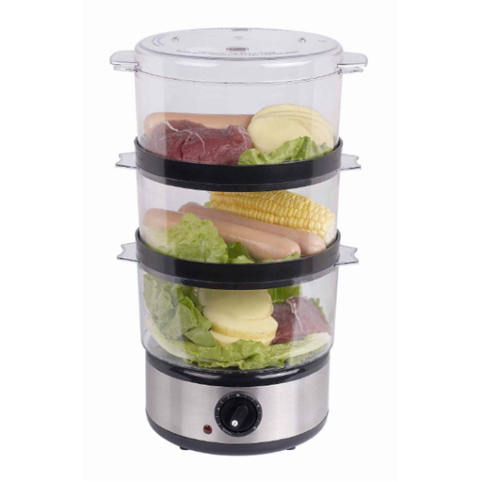 3 Tier Electric Steamer ~ Quest digital electric tier w l food steamer