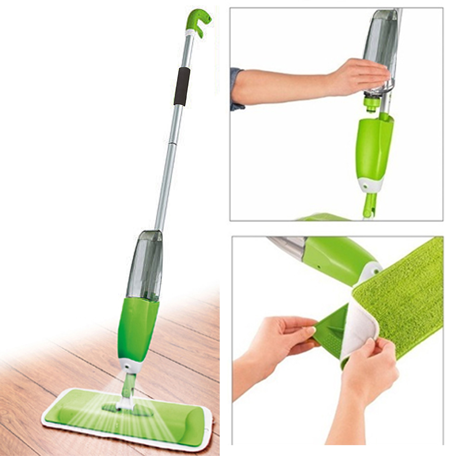 Kitchen Floor Mop 700ml Spray Mop Water Spraying Floor Cleaner Tiles Microfibre