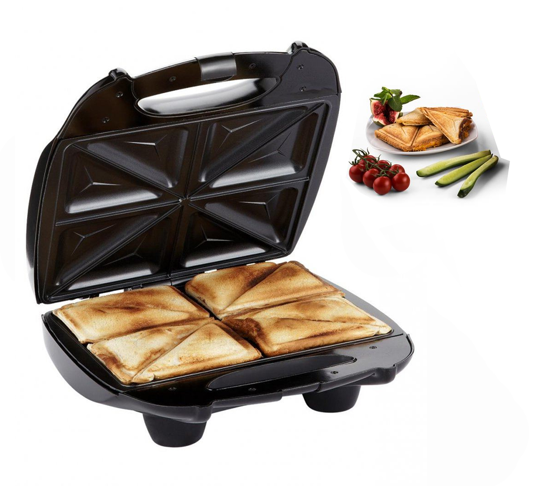 4 Slice Quad Black Large Family Sandwich Toaster Maker Machine Non Stick   eBay